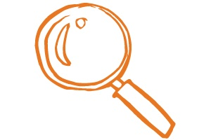 An image of a magnifying glass