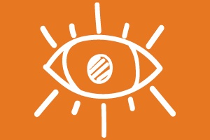 an illustration showing an eye