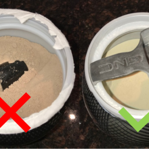 An image showing two powders in two jars